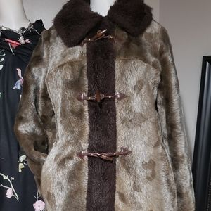 Vintage Canadian Faux Fur Coat